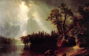 Passing Storm Over the Sierra Nevadas by Albert Bierstadt