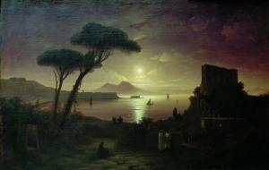 Ivan Aivazovsky, The Bay of Naples at Moonlit Night