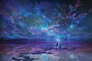 Ocean, Sky, Stars